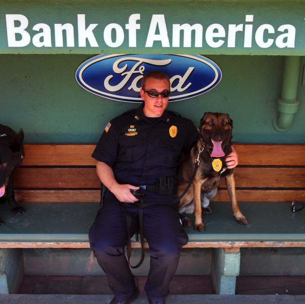 K9 Rex and his handler Officer Brian Donahue