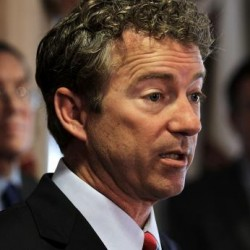Standing with Rand, nervously