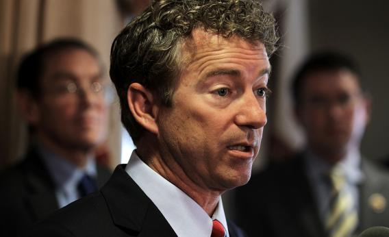 Rand Paul's on the winning side of a foreign policy debate, for once.