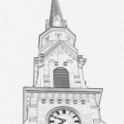 Steeple of the Trinitarian Congregational Parish of Castine