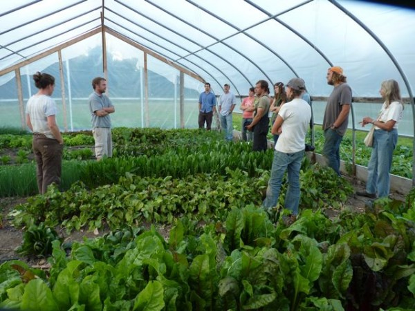 Tour includes greenhouses at Rolling Acres Farm.