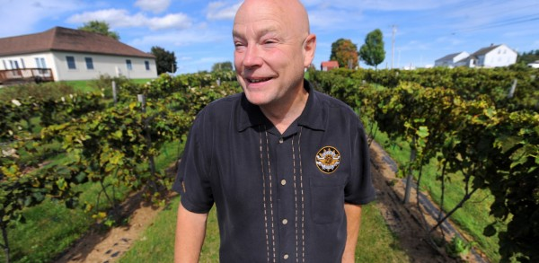 Clem Blakney owner of Younity Winery and Vineyards in Unity. They make seven different wines including blueberry, cranberry, rhubarb and pumpkin. They only use fruit that grew in Maine to produce their products.