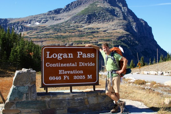 Kerry Gallivan, co-founder of Chimani, at Logan Pass in Glacier National Park.