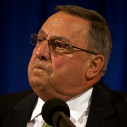 Let's toughen domestic violence laws, LePage says during Piscataquis County visit