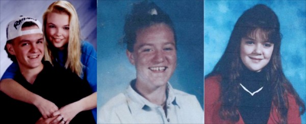 Jeff Izer (from left), 17, Angie Dubuc, 16, Dawn Marie Welding, 15, and Katie Leighton, 14, were killed 20 years ago on the Maine Turnpike when the car they were riding in was run over in the breakdown lane by a trucker who had fallen asleep at the wheel.