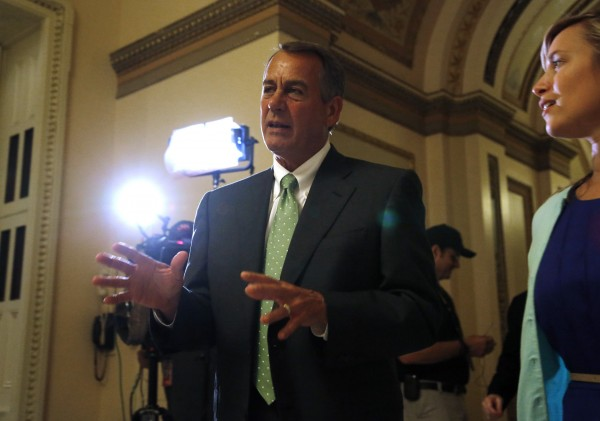 Conservatives have forced House Speaker John Boehner to pursue a strategy that calls for things conservatives have spent months fighting.