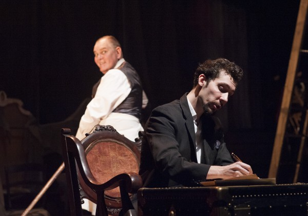 Mark Chambers and Brad LaBree in Penobscot Theatre Company's 2013 production of &quotThe Woman in Black,&quot which runs through Nov. 3.
