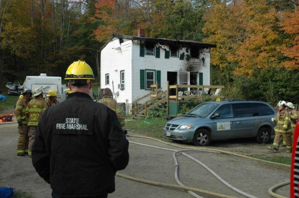 Fire crews went to a Granite Hill Road home in Manchester on Saturday. Samuel Spinicci died in the morning fire, according to Maine State Police.