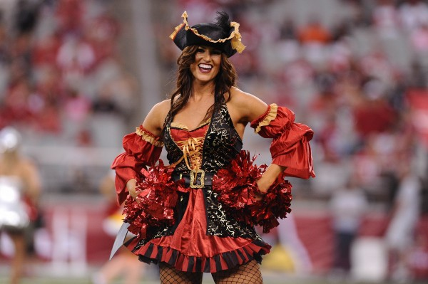 Arizona Cardinals cheerleader performs in a Halloween costumes in the game against the Atlanta Falcons at University of Phoenix Stadium. The Cardinals defeated the Falcons 27-13.