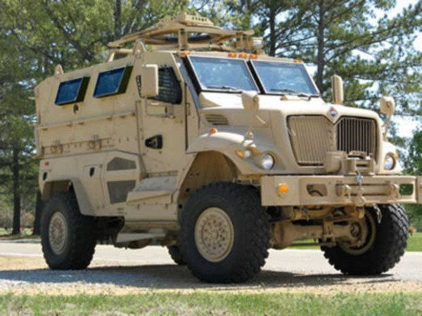 This armored personnel carrier is similar to one recently awarded to the Oxford County Sheriff's Office in Paris by the U.S. military.
