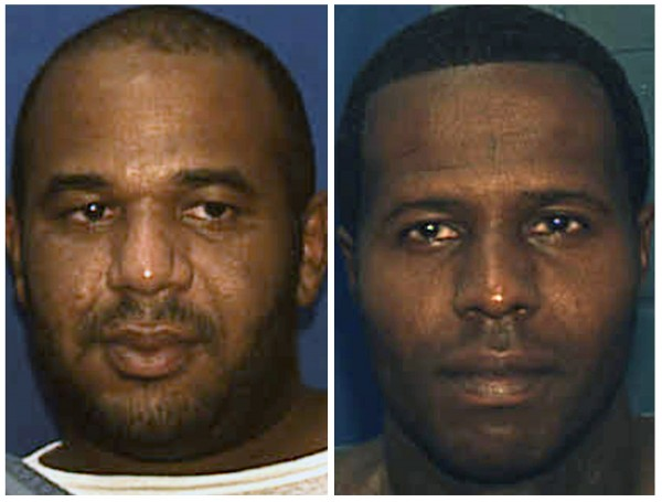 Escaped convicts Joseph Ivan Jenkins, left, and Charles Walker are shown in this combination of undated booking photos provided by the Florida Department of Corrections October 17, 2013.