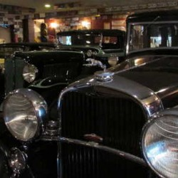 Three of Jack Greenleaf's treasured vintage cars sitting in his Oxford garage.