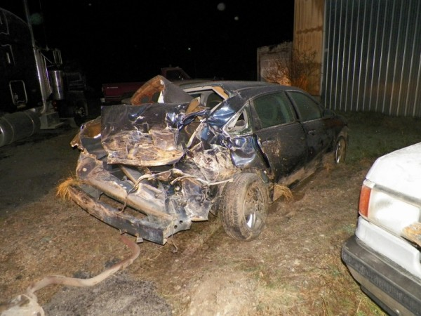 A car driven by Jayde McNinch, who was involved in a Monday night crash in Smyrna, is shown in this photo contributed by state police.