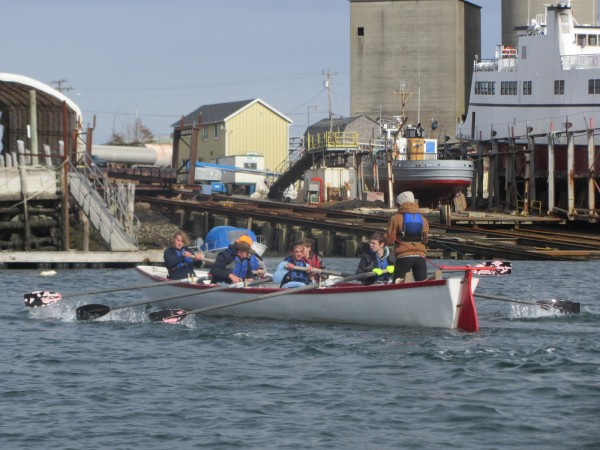 Students from North Haven participated Saturday in a rowing competition in Rockland Harbor.