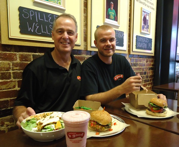 Ben and Bill Zolper of Bangor open b.good on Exchange Street in Portland this month. The Boston-based burger restaurant takes a local and healthy approach to fast food.
