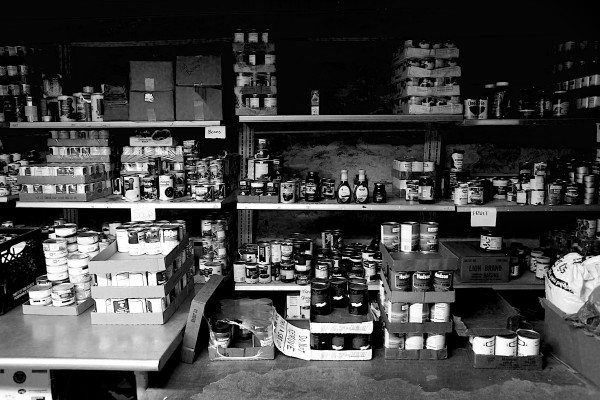The basement pantry. 