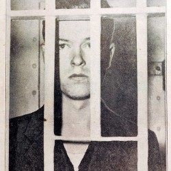 A newspaper clipping of Paul Dwyer in a South Paris jail cell.