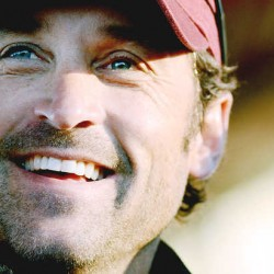 Actor Patrick Dempsey smiles from stage during The Dempsey Challenge opening ceremony in Lewiston on Saturday, Oct. 13, 2012.