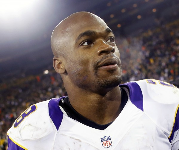 Minnesota Vikings running back Adrian Peterson leaves the field after a game on Jan, 5. Peterson's 2-year-old son has died, local police in Minnesota have said.