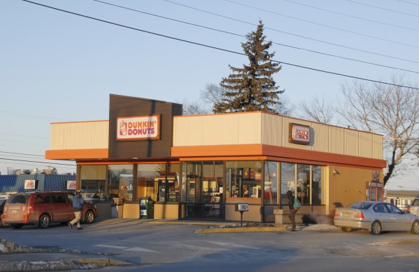 The Dunkin Donuts at State and Wilson streets in Brewer is seen in a Jan. 23, 2013 file photo. Dunkin' Donuts is the largest franchised business in the state with 140 locations.