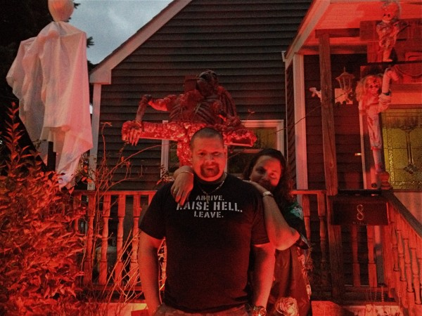 Jeremy McGrath, 36 of Saco and his wife, Jennifer, embrace Halloween with a dark glee. &quotScaring people is fun,&quot he says. His basement becomes a spooky underworld every Oct. 31.