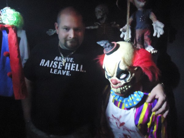 Inspired by Stephen King novels, like &quotIT,&quot a creepy clown appears in Jeremy McGrath's basement.