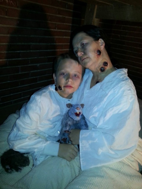 Amy Violette does makeup for various Halloween events around town including Fright at the Fort. Violette and her family spend year after year creating the perfect costumes and finding new ways to scare friends, neighbors, bosses and really anybody.