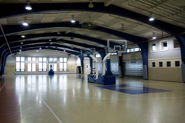 The Brunswick Parks and Recreation Department will have two full-size basketball courts inside the new Brunswick Landing recreation building at 220 Neptune Drive, which will open in November 2013.