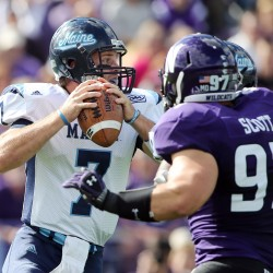 No. 16 Northwestern uses defensive scores to shake pesky UMaine football team