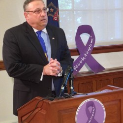 LePage takes anti-domestic violence message to central Maine