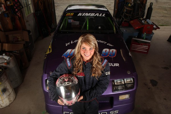 Shelby Kimball, 21, of Cornville captured the points title in the Street Stock class at Speedway 95 in Hermon on Saturday.