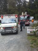 Rangers, search and rescue volunteers and emergency response crews on Saturday helped a woman who was injured while hiking Flying Mountain. The woman was one of many people visiting Acadia National Park despite the partial government shutdown which closed the park several days ago.