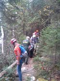 Acadia National Park rangers and Mount Desert Island search and rescue personnel helped a 69-year-old woman who was injured Saturday morning while hiking Flying Mountain.