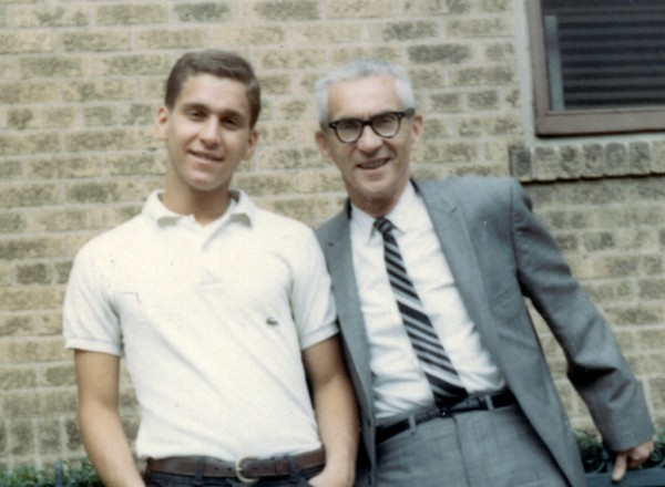 Eddie Adelman, of Belfast, is pictured with his father, Max, at his high school graduation in Brooklyn, N.Y., in 1967.