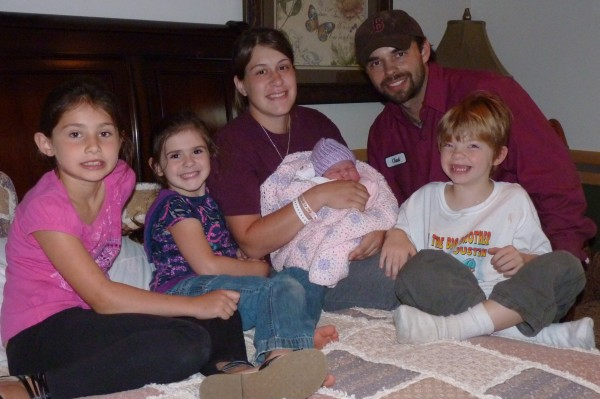 This family portrait shows newborn Brylee Ann-Marie Gagnon with her parents and siblings shortly after her birth on Aug. 8. Not long after, she was diagnosed with a rare life-threatening disease that will require a stem cell transplant to treat. Pictured (from left) are sisters Jocelyn and Cheyenne, mother Shandi Page, Brylee, father Chad Gagnon, and brother Justin, all of Presque Isle.
