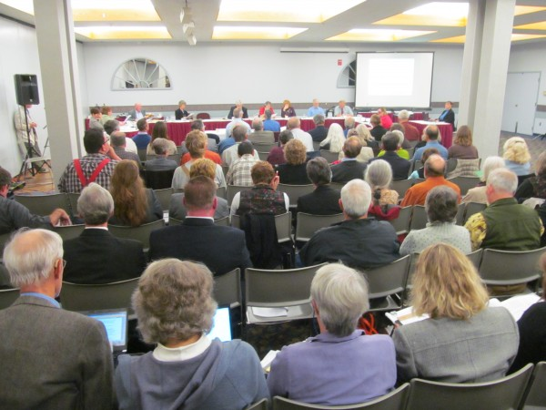Well more than 100 people turned out on Thursday, October 17, 2013, for a Board of Environmental Protection public hearing on proposed new mining rules that are the result of a metallic mineral mining law passed earlier this year.