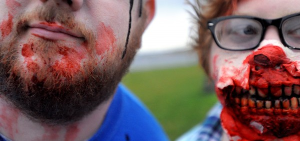 Scott and Sarah Connolly of Holden at the 2013 Bangor Zombie Walk on Saturday.