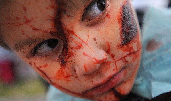 Christian Jamieson, 7, of Bangor at the 2013 Bangor Zombie Walk on Saturday.
