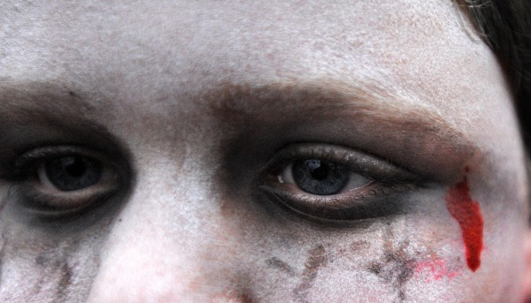 Jonathyn Franklin, 8, of Bangor at the 2013 Bangor Zombie Walk on Saturday.