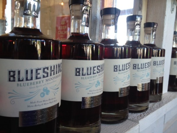 Blueshine, made of local blueberries, grain and maple syrup, was released last week at Maine Craft Distillery in Portland.