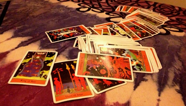 Forget tea leaves, the Halloween tarot awaits your future at Leapin' Lizards in Portland.