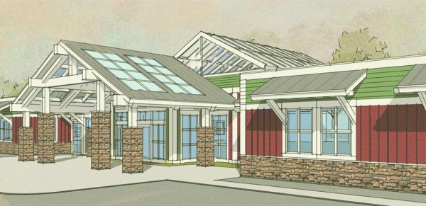 A rendering of a new medical office building St. Joseph Healthcare plans to build at 900 Broadway.