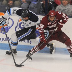UMaine men's hockey ties UMass 2-2 in overtime