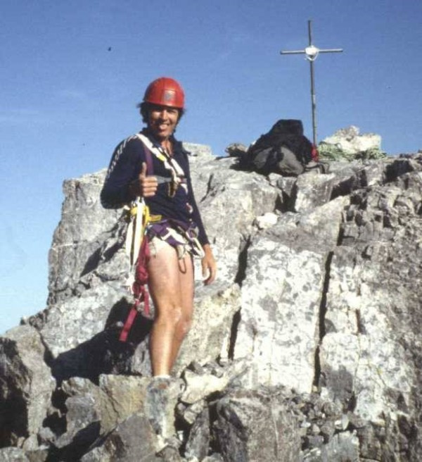 Adventurist and solo rock and mountain climber Richard L. Gebert of Carmel died in mid-August while on a solo mountain climbing expedition in the Canadian Rockies near the British Columbia-Alberta border. He is pictured in an undated photo from the 1980s on top of Mount Louis in Alberta, one of the hundreds of mountains in North America that he scaled.