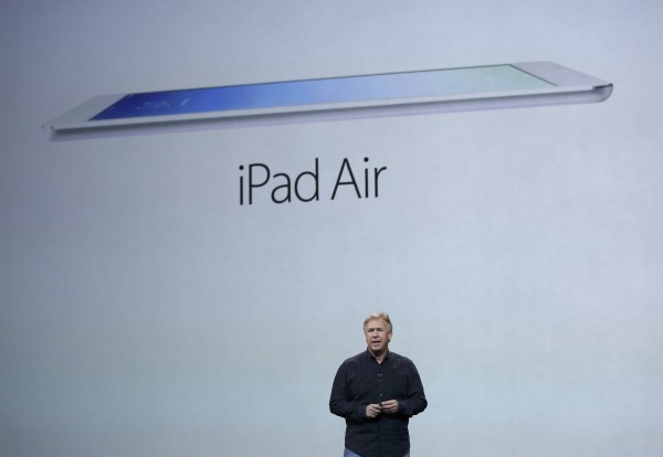Philip W. Schiller, Senior Vice President of worldwide marketing at Apple Inc,  introduces the new iPad Air during an Apple event in San Francisco, California October 22, 2013.