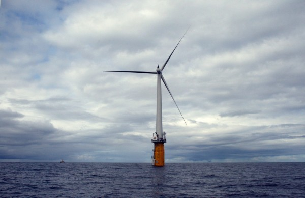 The world's first full-scale floating wind turbine, installed by StatoilHydro and Siemens, is located approximately 7 miles off the southwest coast of Norway at a water depth of about 220 meters.