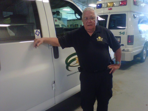 Paul Knowlton, who has worked as a part of an ambulance crew in the Bangor area since 1976, is retiring from Capital Ambulance in Bangor Friday, Oct. 4, 2013.