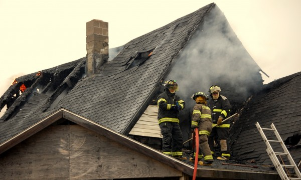 In this April 2013 file photo, volunteer firefighters from Addison, Columbia Falls, Harrington and Jonesport were among the responders to a house fire on Indian River Road in Addison.
