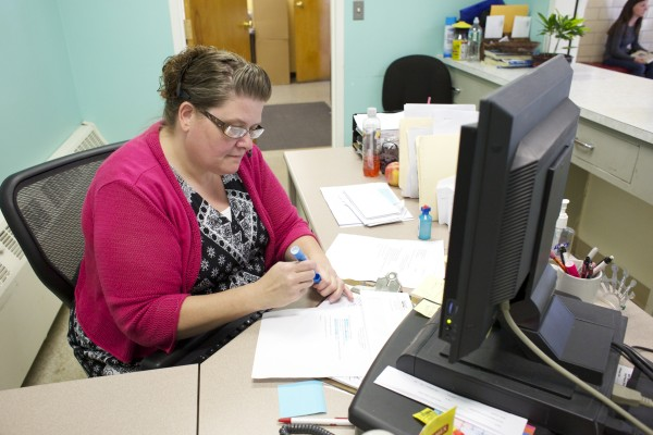 Cheryl Madore has been a receptionist at Bangor Health and Community Services since December 2012. Madore could face a furlough because of the federal shutdown.