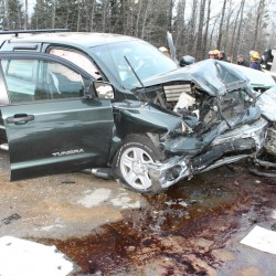 Two injured, one critically, in two-vehicle crash in Eagle Lake